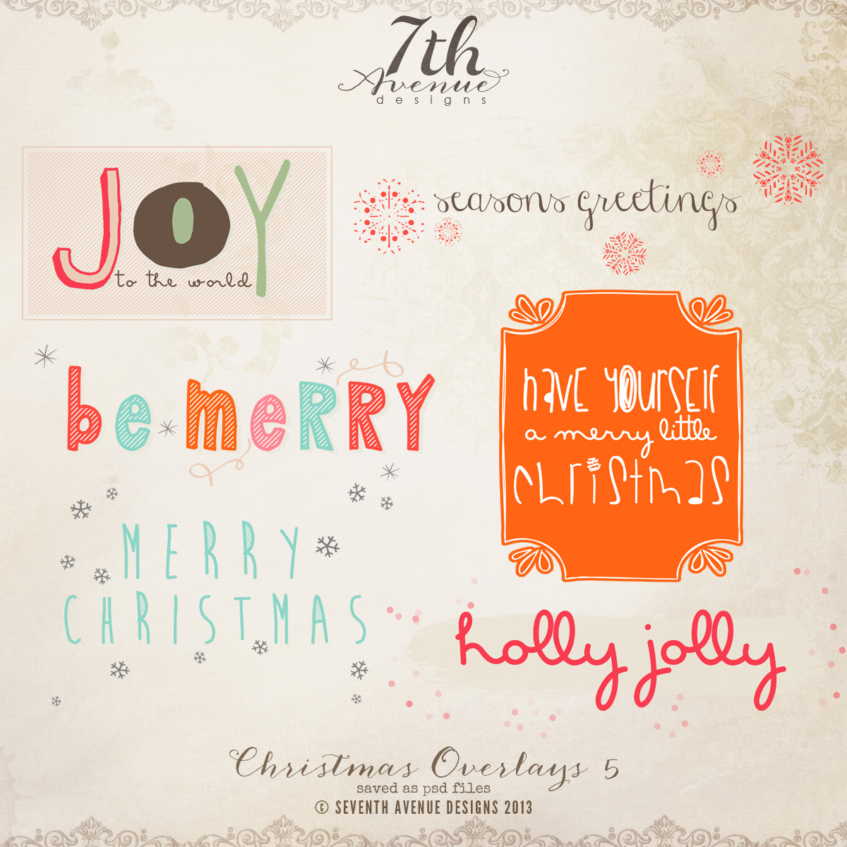 Christmas Overlays vol.5