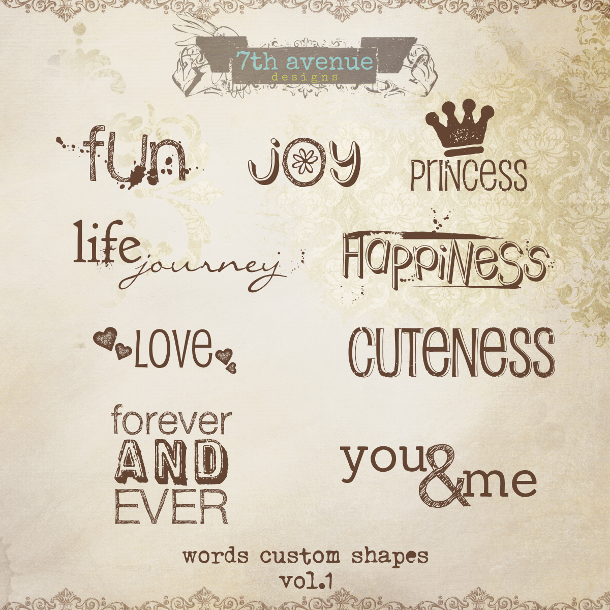 Words Custom Shapes Overlay vol.1